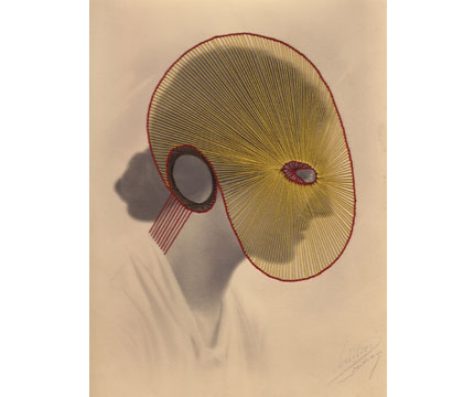 Portrait Yellow, 2012. Embroidery on photo, 23.5 x 18cm © Maurizio Anzeri
